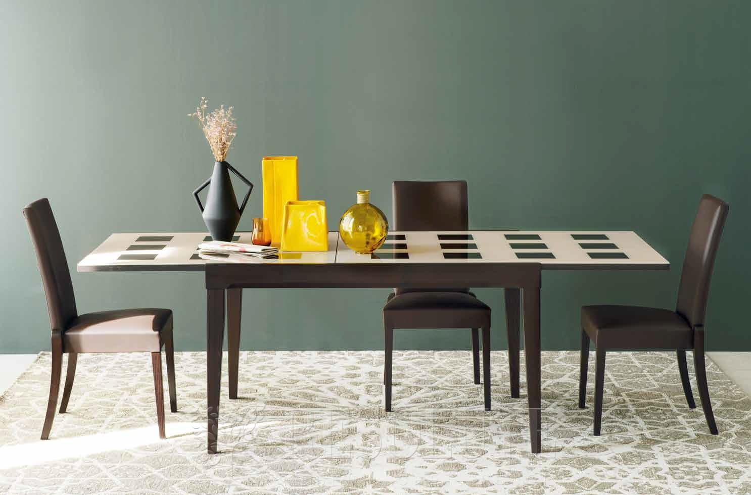 Стол деревянный со стеклом Connubiai CB/4702-Q130 Fly Checkers - 1