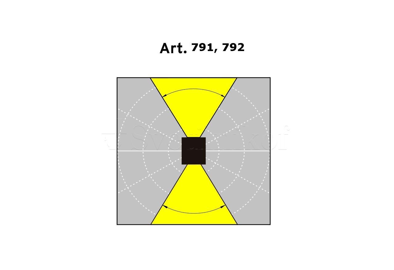 Фасадный светильник Norlys SANDVIK 791GR - 1