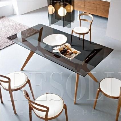 Стол деревянный со стеклом Calligaris CS/18-RC 180 G TOKYO - 3