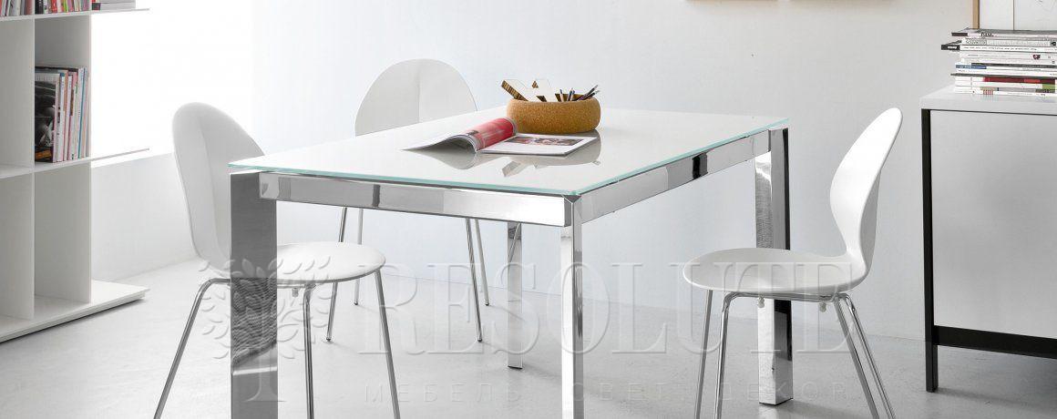 Стол металлический со стеклом Calligaris CS4010-MV 110 BARON - 1