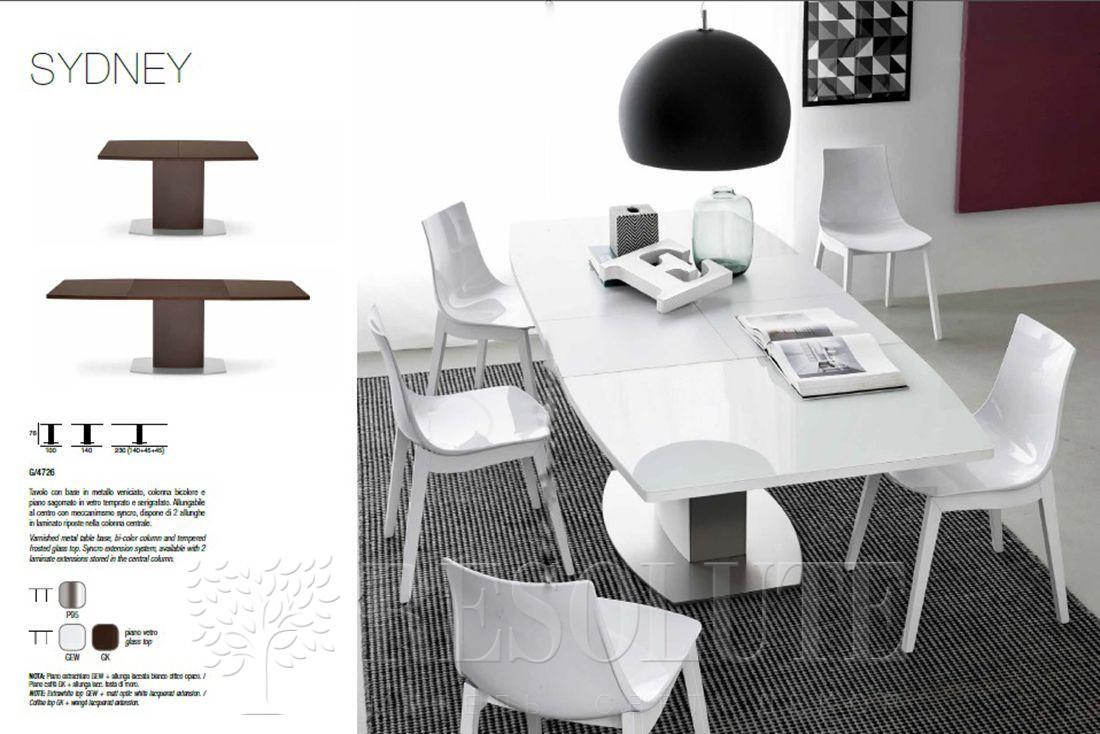 Стол металлический со стеклом Olivo&Godeassi G/4726 Sydney - 1