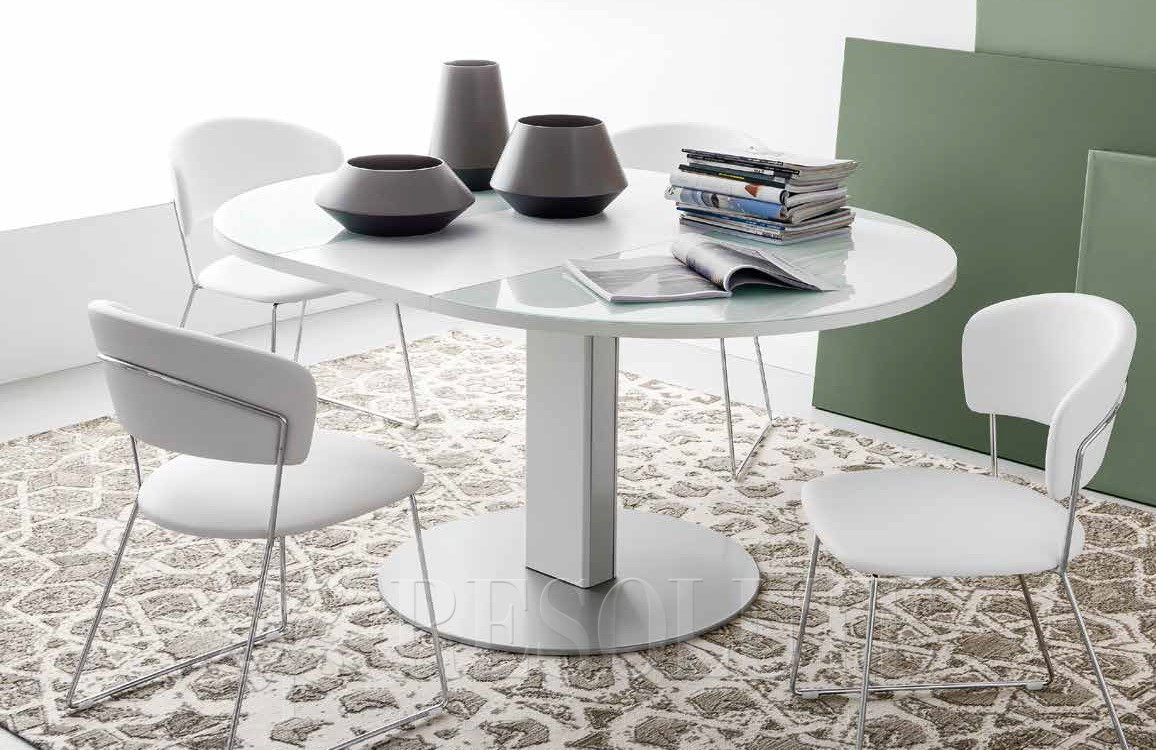 Стол металлический со стеклом Olivo&Ggodeassi 4756-RD Thesis - 4