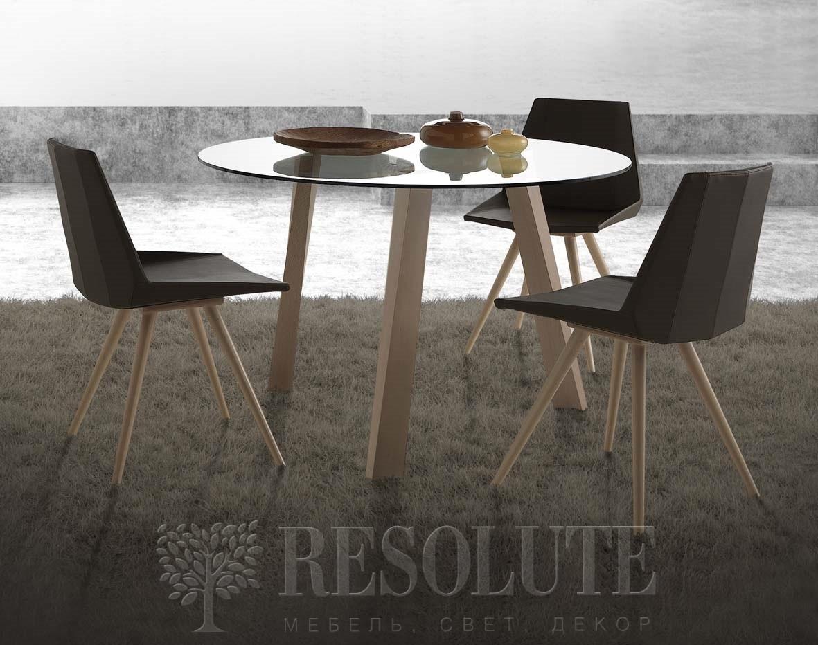 Стол деревянный со стеклянной столешницей Glam Natisa TL 1161 - 2