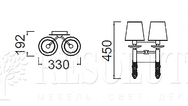 Бра Mantra Tiffany 3883 - 1