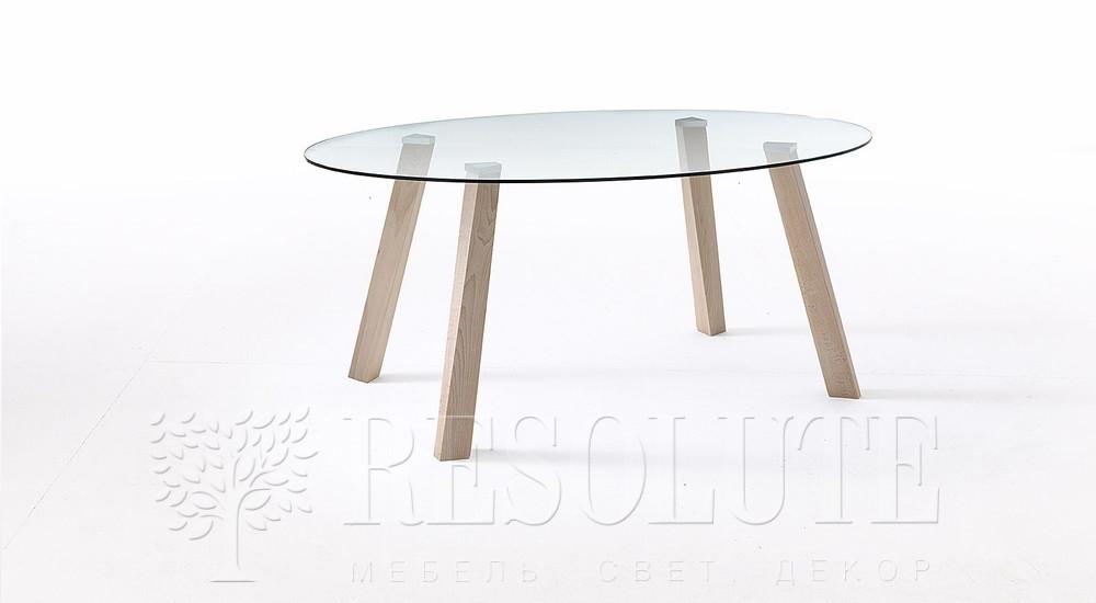 Стол деревянный со стеклянной столешницей Glam 4 Natisa TL 1162 - 1