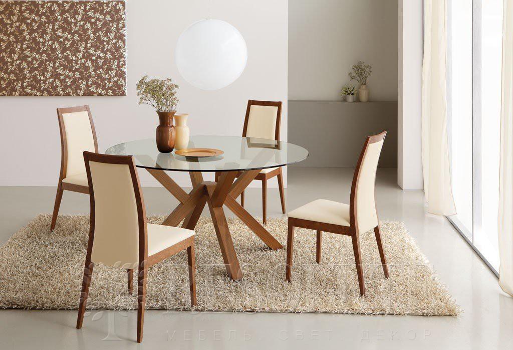Стол деревянный со стеклом Connubia CB/4728-V140 Mikado - 1