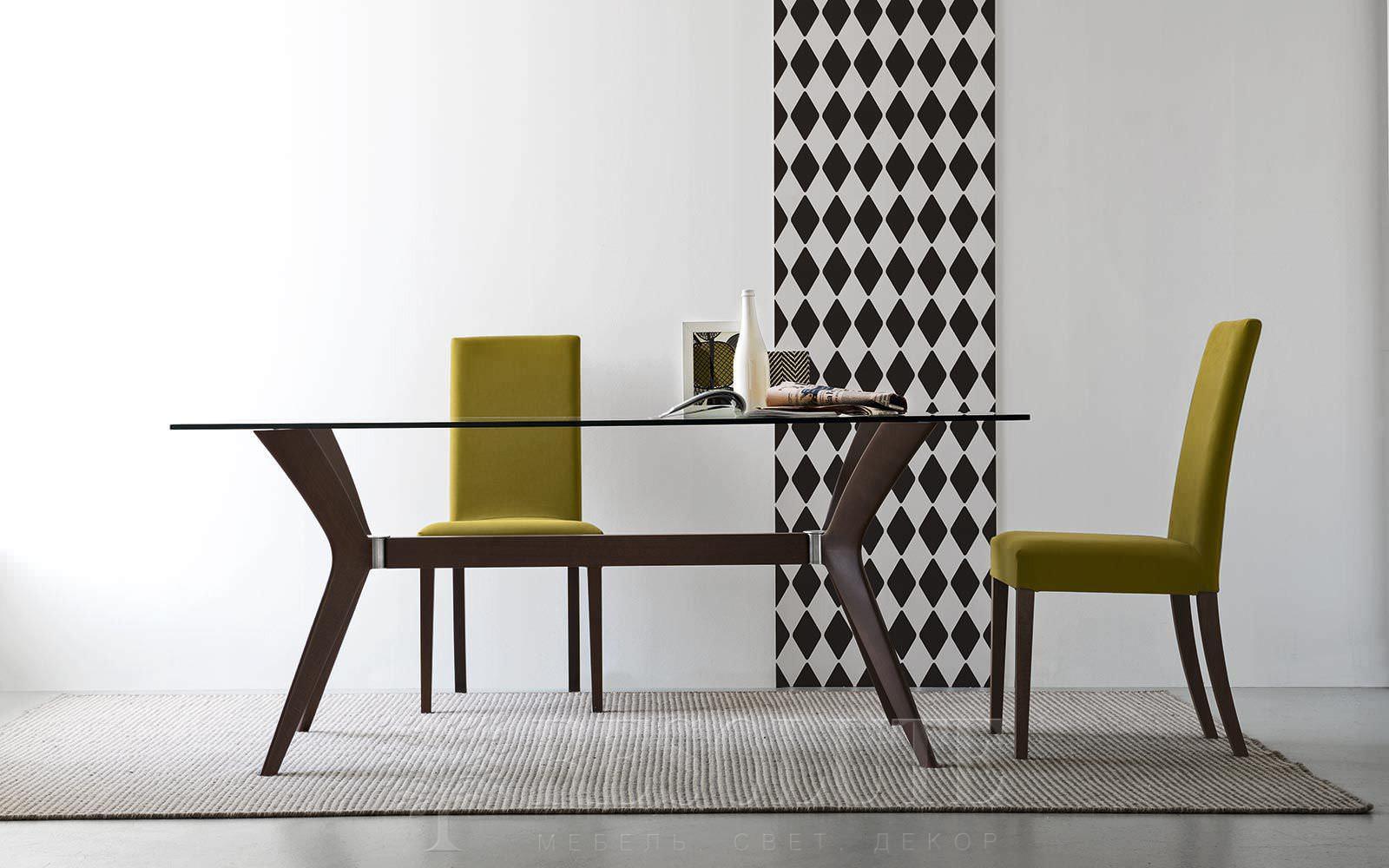 Стол деревянный со стеклом Calligaris CS/18-RC 180 G TOKYO - 1