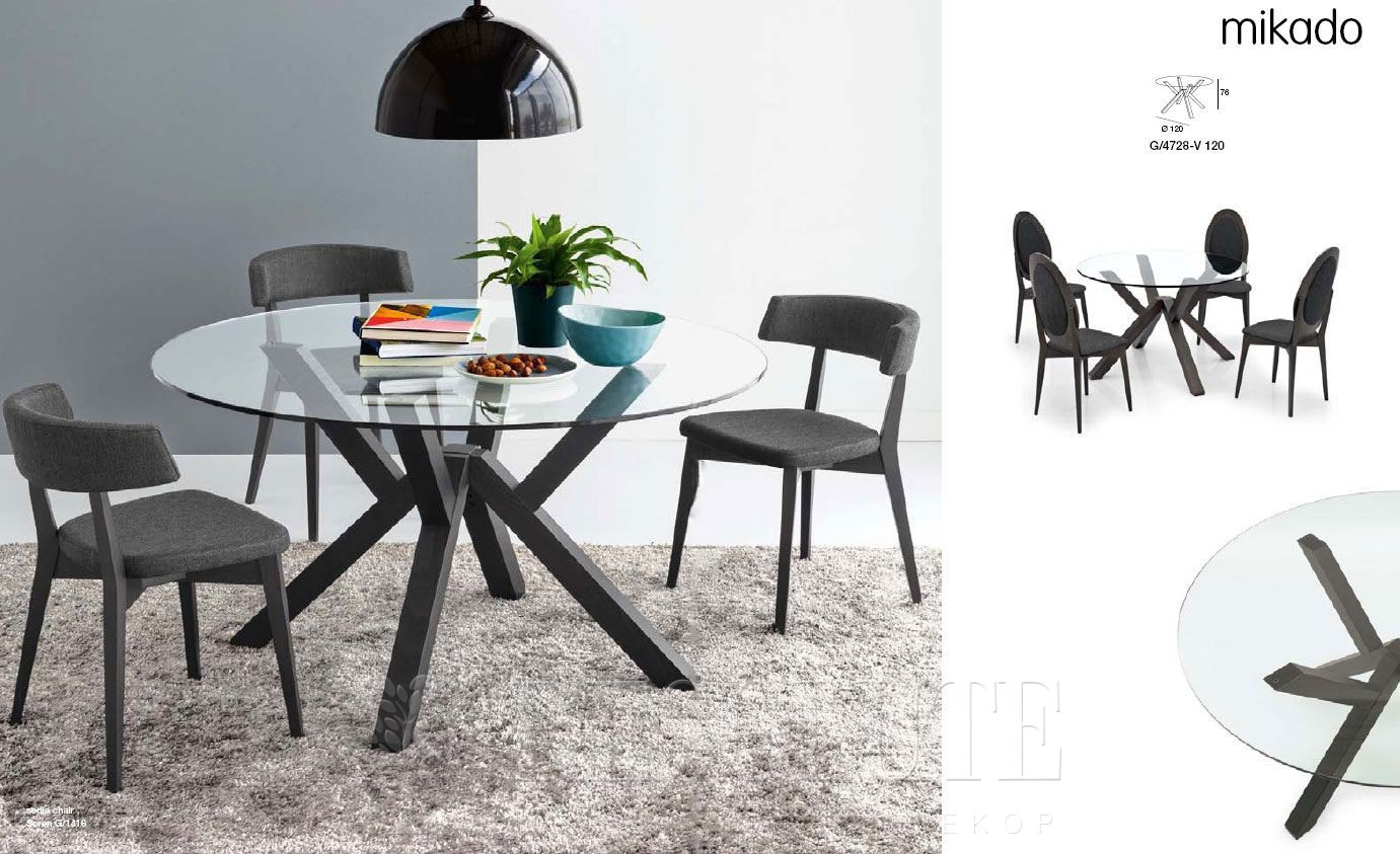 Стол деревянный со стеклом Connubia CB/4728-V120 Mikado - 3