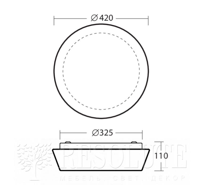 Настенно-потолочный светильник CRATER 4 Osmont 42880 - 4