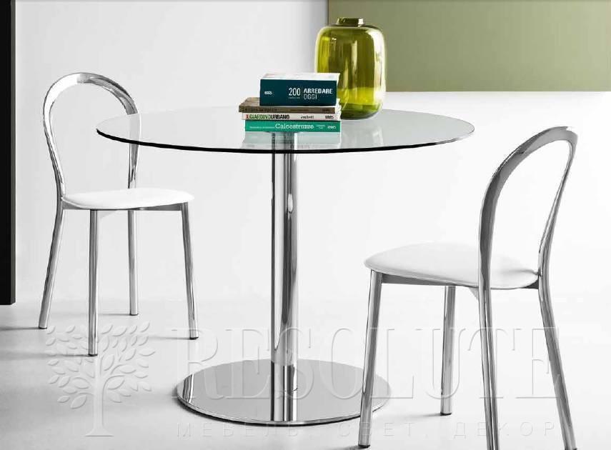 Стол металлический со стеклом Olivo&Godeassi G/4719 Saturn - 1
