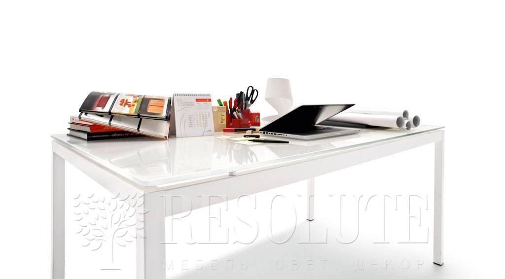 Стол металлический со стеклом Calligaris CS/369-FX S AVANTGARDE - 1