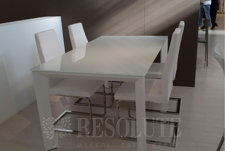 Стол металлический со стеклом Olivo&Godeassi G/4751 Steel - 1