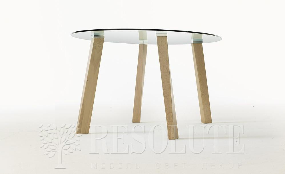 Стол деревянный со стеклянной столешницей Glam 4 Natisa TL 1162 - 2