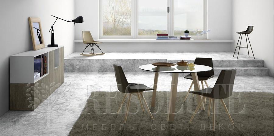Стол деревянный со стеклянной столешницей Glam Natisa TL 1161 - 3
