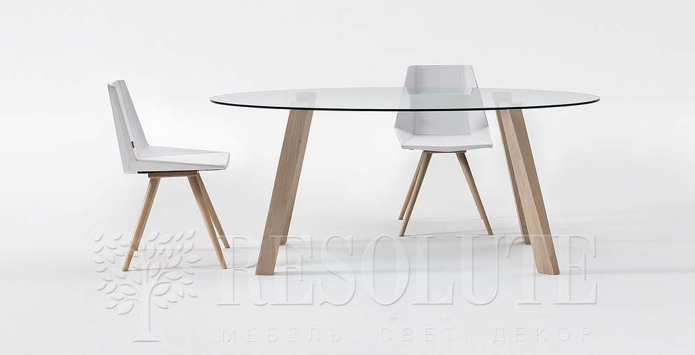 Стол деревянный со стеклянной столешницей Glam 4 Natisa TL 1162 - 3