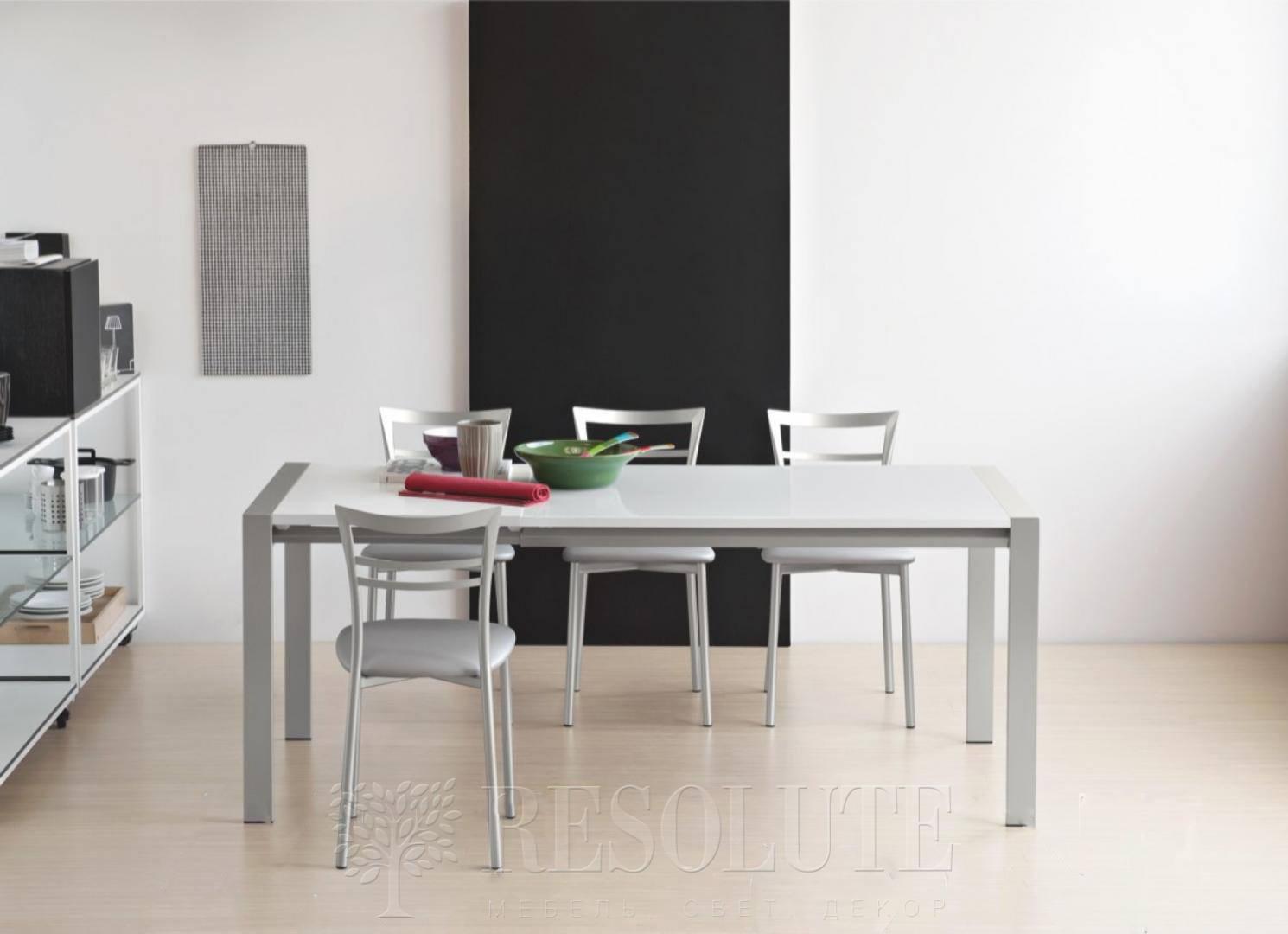 Стол металлический со стеклом Olivo&Godeassi G/4749-V Excel - 2