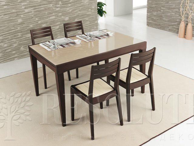 Стол деревянный со стеклом Connubia CB/4702-V130 Fly - 4