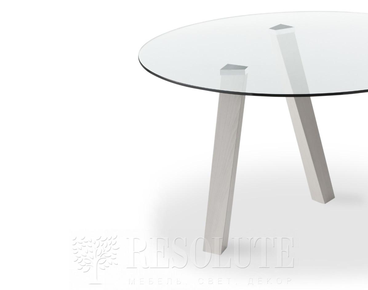 Стол деревянный со стеклянной столешницей Glam Natisa TL 1161 - 1