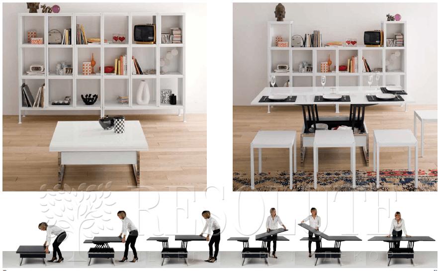 Стол трансформер iMultifunzione by Sedit Trendy Quadrato  - 2