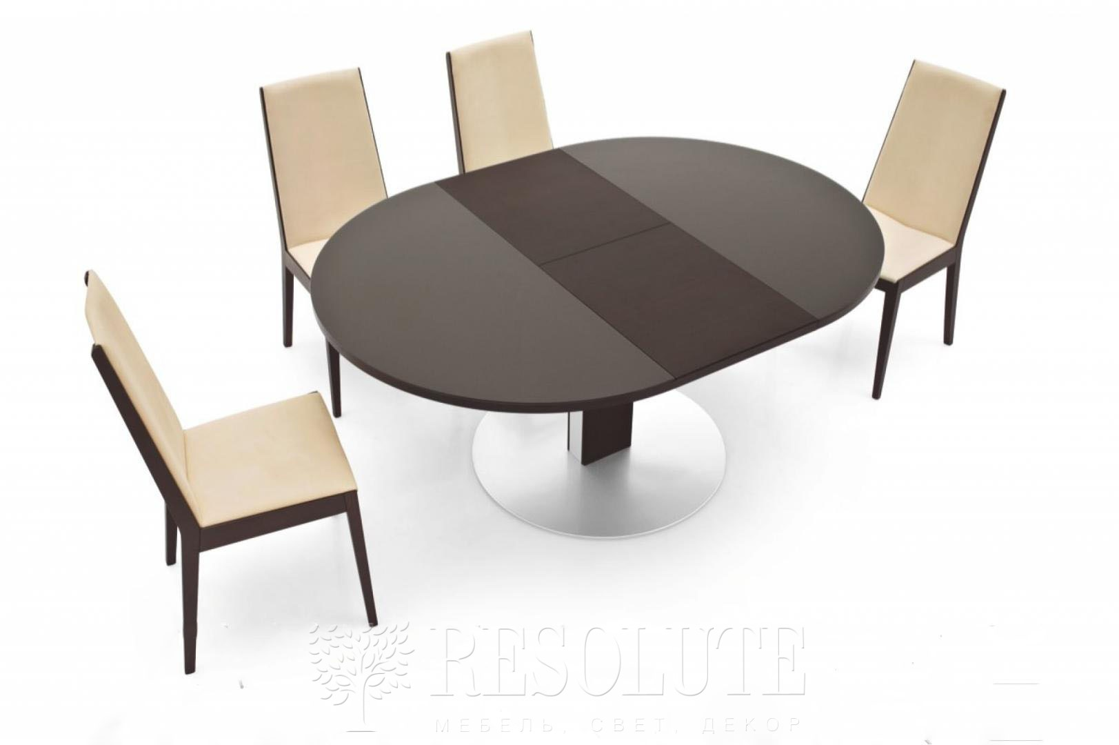 Стол металлический со стеклом Olivo&Ggodeassi 4756-RD Thesis - 2