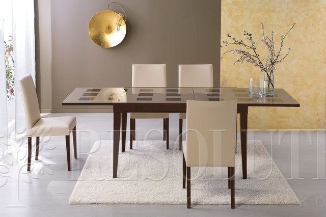 Стол деревянный со стеклом Connubiai CB/4702-Q130 Fly Checkers - 2