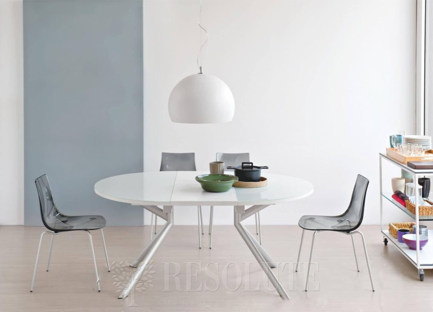 Стол металлический со стеклом Olivo&Godeassi G/4738 Meteor - 1