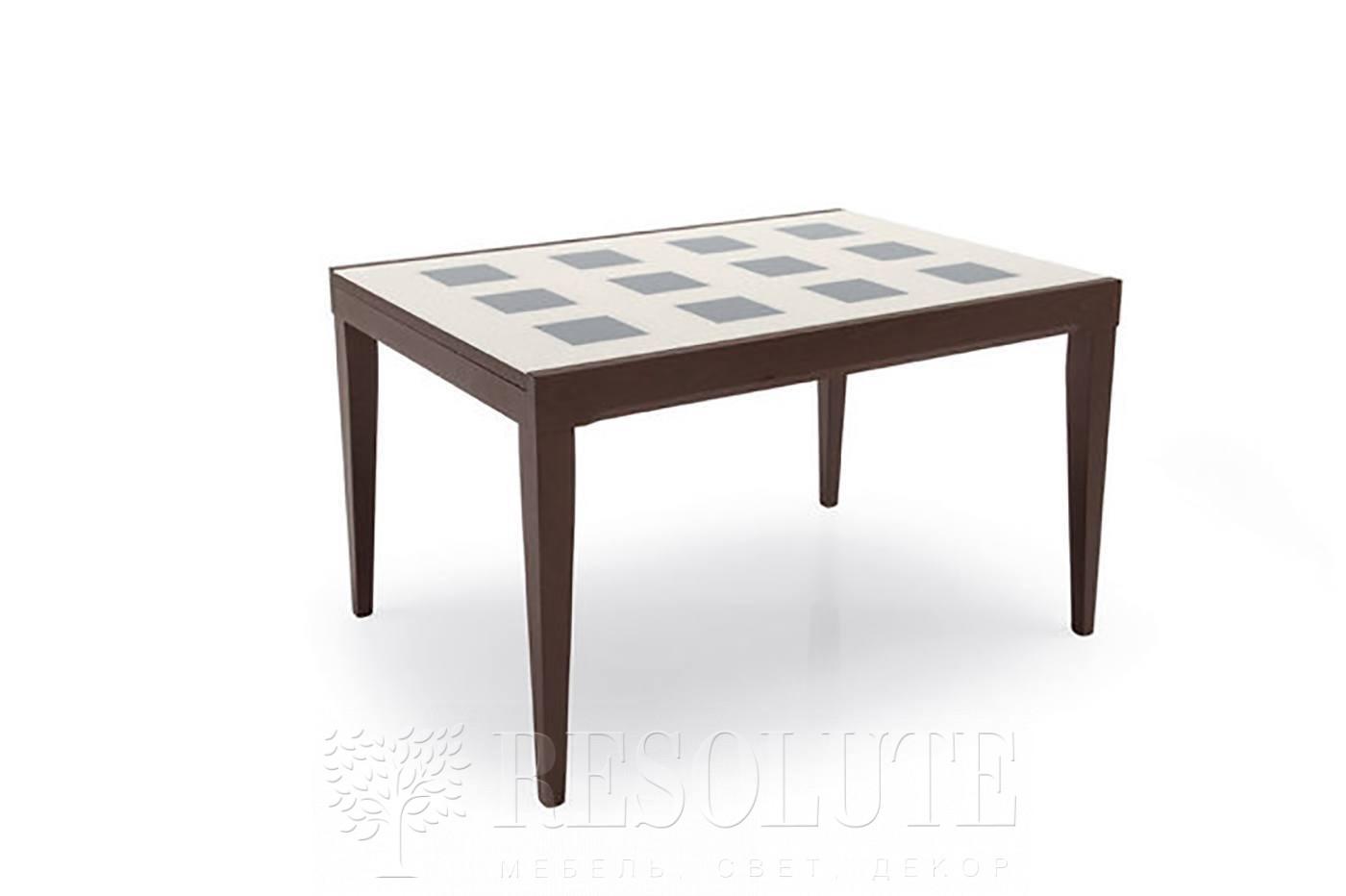 Стол деревянный со стеклом Connubiai CB/4702-Q130 Fly Checkers