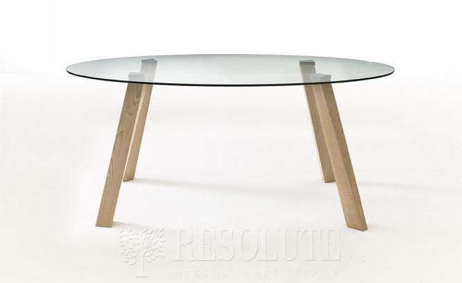 Стол деревянный со стеклянной столешницей Glam 4 Natisa TL 1162