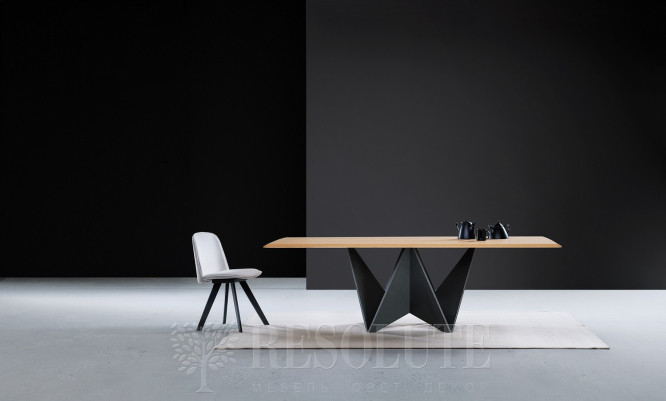 Стол с деревянной столешницей TL 1762 ORIGAMI Natisa