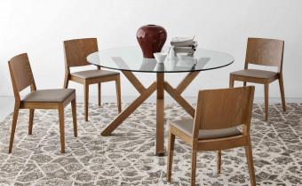 Стол деревянный со стеклом Olivo&Godeassi G/4728-V120 Mikado