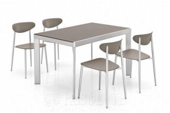 Обеденный комплект Стол Plano 120-V + 4 Стула Graphite Olivo&Godeassi