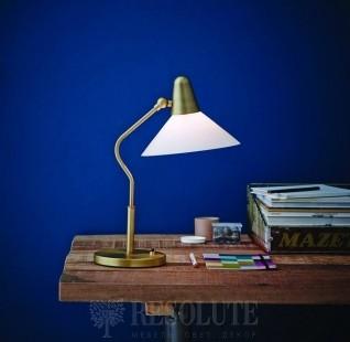 Настольная лампа Martello Herstal brass/white 13004270420