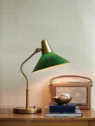 Настольная лампа Martello Herstal brass/green 13004270421
