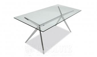 Стол металлический со стеклом SEVEN CB/4042-RC 160 G Connubia by Calligaris