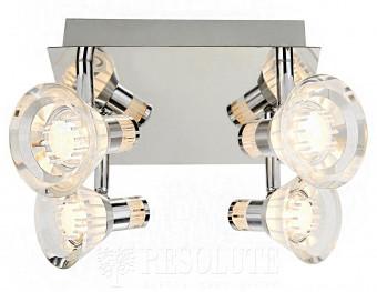 Спот потолочный для ванной Searchlight Flute LED 7474CC