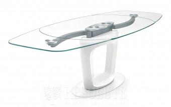 Стол металлический со стеклом Orbital CS 4064 Calligaris