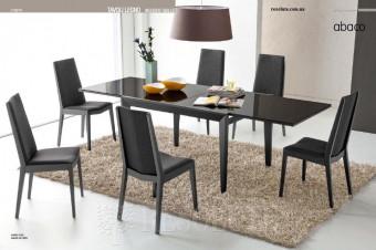 Стол деревянный со стеклом G/4758 Abaco-V120 Graphite Olivo&Godeassi