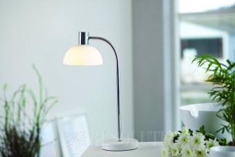Настольная лампа Herstal Vienda white glass 13071160106