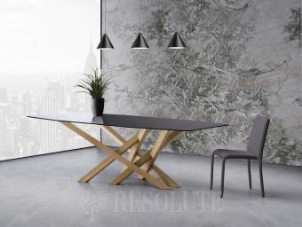 Стол со стеклянной столешницей TL 1621 Cross 220 Natisa