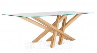 Стол со стеклянной столешницей Cross Natisa TL1621