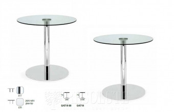 Стол металлический со стеклом Olivo&Godeassi G/4719 Saturn