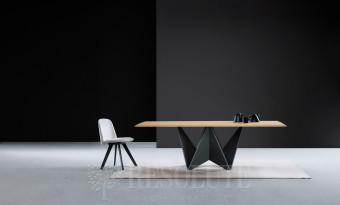 Стол с деревянной столешницей TL 1763 ORIGAMI Natisa