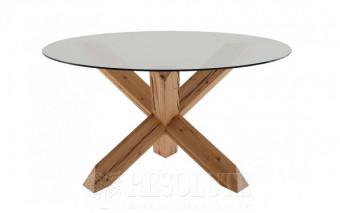 Стол деревянный со стеклом TRAVO SEDIT D120