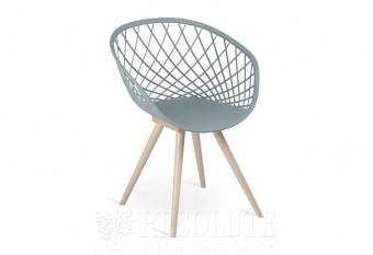 Кресло деревянное с пластиковым сидением Natisa SL 1411 Bubble