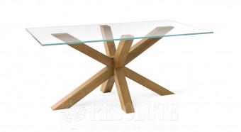 Стол деревянный со стеклянной столешницей Star Natisa TL 1481