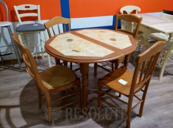 Стол деревянный с плиткой Odet Rustique F753