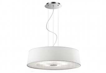 Подвесная люстра HILTON SP6 ROUND BIANCO Ideal Lux 075518