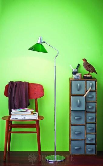 Торшер Martello Herstal chrome/green 14004270121