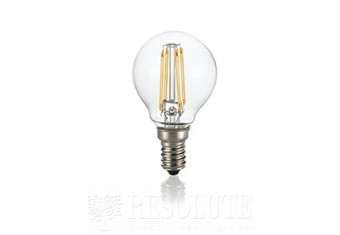 Лампа LED CLASSIC E14 4W SFERA TRASPARENTE 3000K Ideal Lux 101200