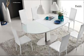 Стол металлический со стеклом Olivo&Godeassi 4756-E Thesis White